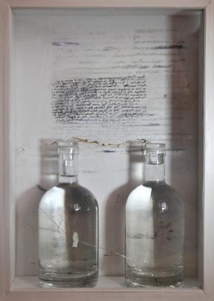 Egnazia Venezia, 2014, tecnica mista archiviazione del Mare Adriatico, misure 30 x 42 x 10 cm