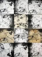 miraggio_2017_84x112cm_tecnina mista_carta su tavolo di legno, chiodo, filo di cotone